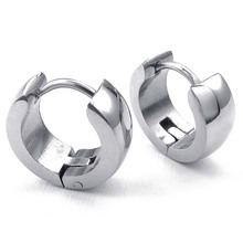 Jewelery Earrings Minimalist Design Hinged Rings Stainless Steel for Men and Women Silver With Gift Bag