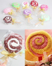 NEW Washcloth Towel Gift Lollipop Towel Bridal Baby Shower Wedding Party Favor   LS