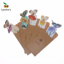 1 Piece classic Butterfly marcador de livro papelaria material escolar paper bookmarks for books markers holder school cute gift