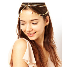 OBABY fashion Bride Hair Accesories Vintage Antique Bronze Head Chain Leaf Shape Headband Fashion Women Head Jewelry 71F46(China)