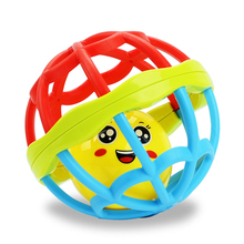 Soft Plastic Baby Grasping Bell Ball 1-12m Baby Toys Rattles Sound Educational Rolling Balls Infant Toddler Teether Toy
