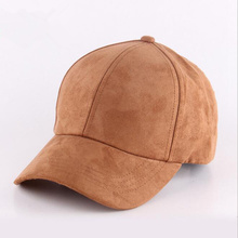 Plain Suede baseball caps with no embroidered casual dad hat strap back outdoor blank sport cap and hat for men and women(China)