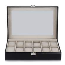 12 Grid Watch Display Case Wrist Watch Storage Box Jewelry Storage Organizer
