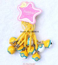 Wholesale New 50 pcs fashion popular Boys and girls Ball Cell Phone Charm Strap JINGLE BELLS Dangle Figures
