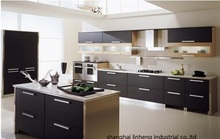 melamine/mfc kitchen cabinets(LH-ME024)(China)