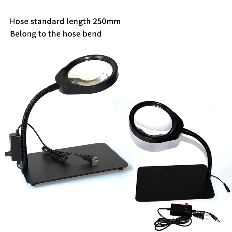 8X 10X 5X 36 LED Light Magnifier & Desk Lamp Helping Desktop Magnifying Tool Desktop Magnifying glass (6)