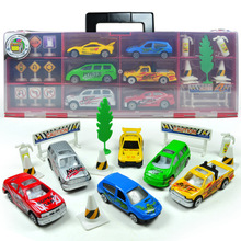 Gift Box Children's Alloy City Scene Cars Traffic Model Suit 20 pcs/set Diecasts Toy Vehicles Toys(China)