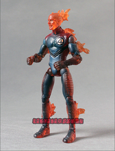 Marvel Legends Fantastic Four Movie Human Torch Blue Outfit Loose Action Figure(China)