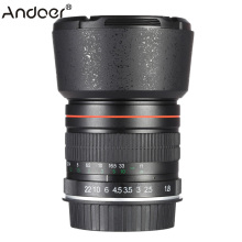 Andoer 85mm f/1.8 Manual Focus Portrait Lens for Canon 80D 7D 70D 750D 760D 6D 60D 600D 50D 500D 550D 5D 5D2 5D3 450D EF Mount(China)