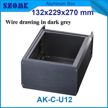 1 piece Black color high quality aluminum 19 inch rack junction box enclosures 132(H)x229(W)x270(L) mm