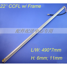 10 pcs x 22 inch wide CCFL Lamps for LCD Monitor Screen  Panel w/ Frame  Backlight Assembly Double lamps 490mm*7mm Free Shipping