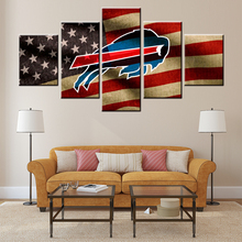American football buffalo High quality 5 Pieces Painting Living Room Decor HD Prints Poster for bar pub home decoration TY-25(China)