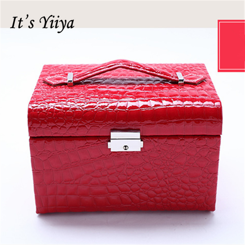 Its Yiiya Sales5 Colors large Cosmetic Bags Make Up Bag Lady Style Casual Gilrs Storage Bag Jewelry boxes HZ013<br>