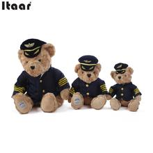 Teddy Air Force Bear Toy Kids Children Good Stuff Stripes Uniform Pilot Dressed