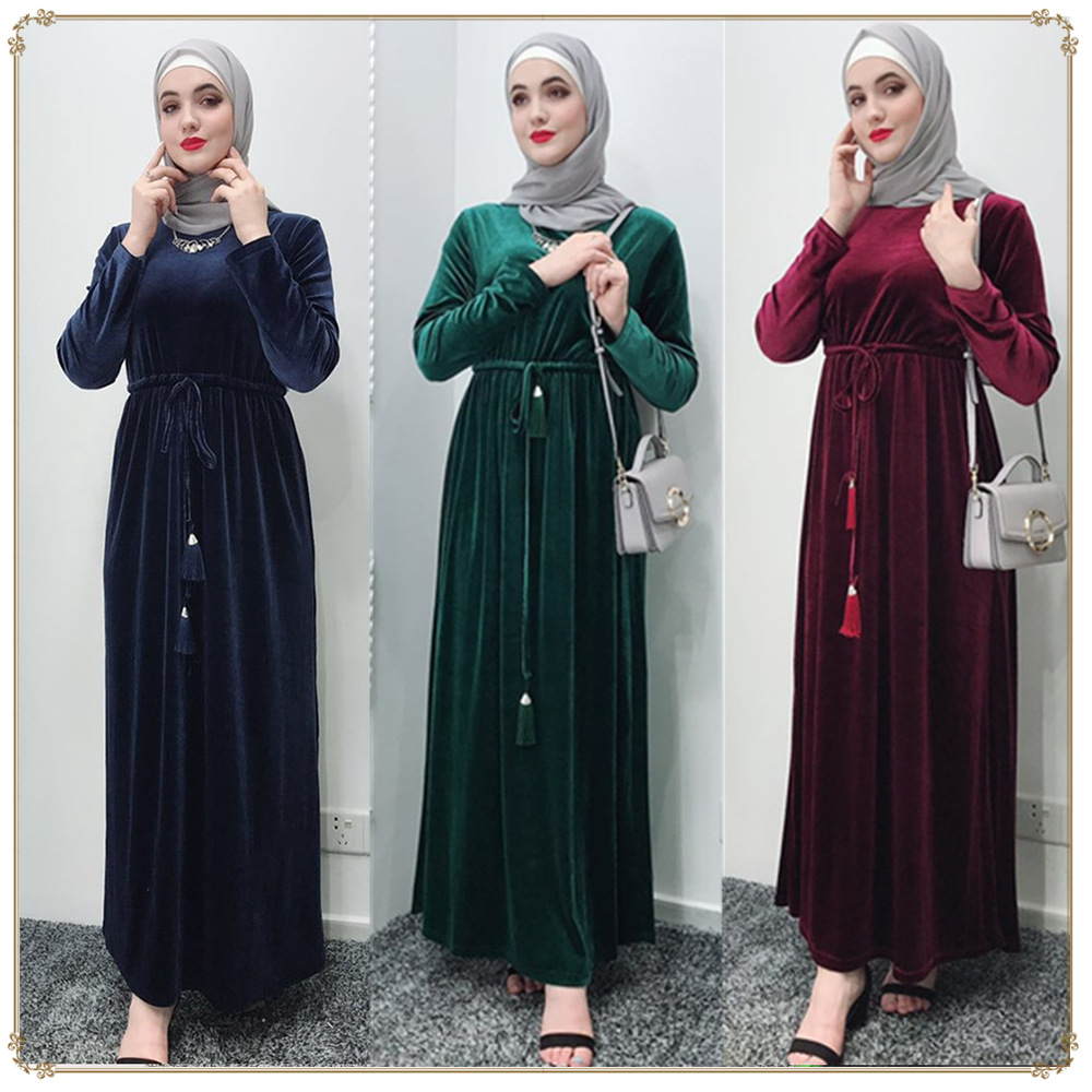 New Abaya With Jacket Kaftan Dress Jilbab Islamic wear Maxi Diamante Dress M-2XL