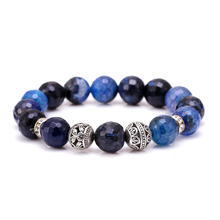 J Store Vintage Deep Blue Stone Charm Bracelets Beaded Bangles One Direction Beads Bracelet Jewelry Summer Accessories