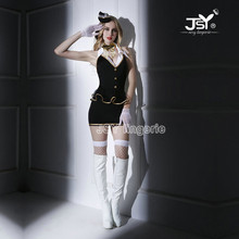 6020 Hot Women Sexy Lingerie Cosplay Costumes Air Hostess Airline Stewardess Uniform Sexy Airline Stewardess Uniform Temptation(China)