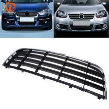 POSSBAY ABS Car Front Center Bumper Lower Grille For VW Jetta/Bora/Golf Mk5 2004-2010 With Chrome Surround Trim Side Parts(China)
