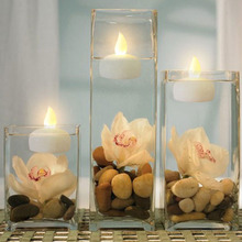 12PCS Floating Candle Lamp Led Waterproof flickering Tea Light Wedding  Birthday Decoration Flameless  Electronic Candle