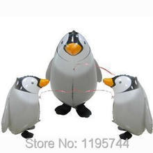 50pcs/Lot, Free Shipping Wholesale, Penguin Pet Walking Animals Balloons  Helium Mylar Balloons, Baby's toy, Party Decoration. .