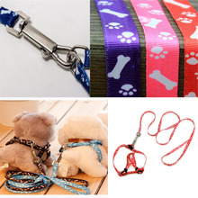 Nylon Harness with Lead leash for Small Dog Pet Puppy Cat Adjustable dog collar harness 5 Colors