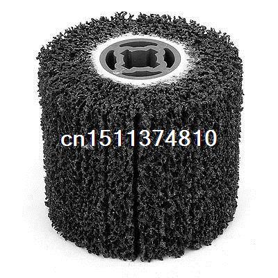115mmx19mmx100mm Cylindrical Polishing Wheel Grinder Tool Black<br>