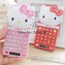 2017 5pcs/lot New Cute School Stretch Basic Electronic Calculator Hello Kitty 8 Digitals Calculating Gifts for Girls