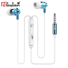 Langsdom M300 Metal Earphone Universal In-ear Wired Earphones With Microphone Stereo Earbuds For MP3 MP4 Computer Mobile Phones(China)
