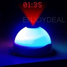 Color Change Projection Clock Time Projector Digital LED Clock Night Light(China)