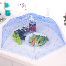 1PCS Big Size Umbrella Style Hexagon Gauze Mesh Food Covers Meal Table Cover Anti Fly Mosquito Kitchen Gadgets Cooking Tools(China)