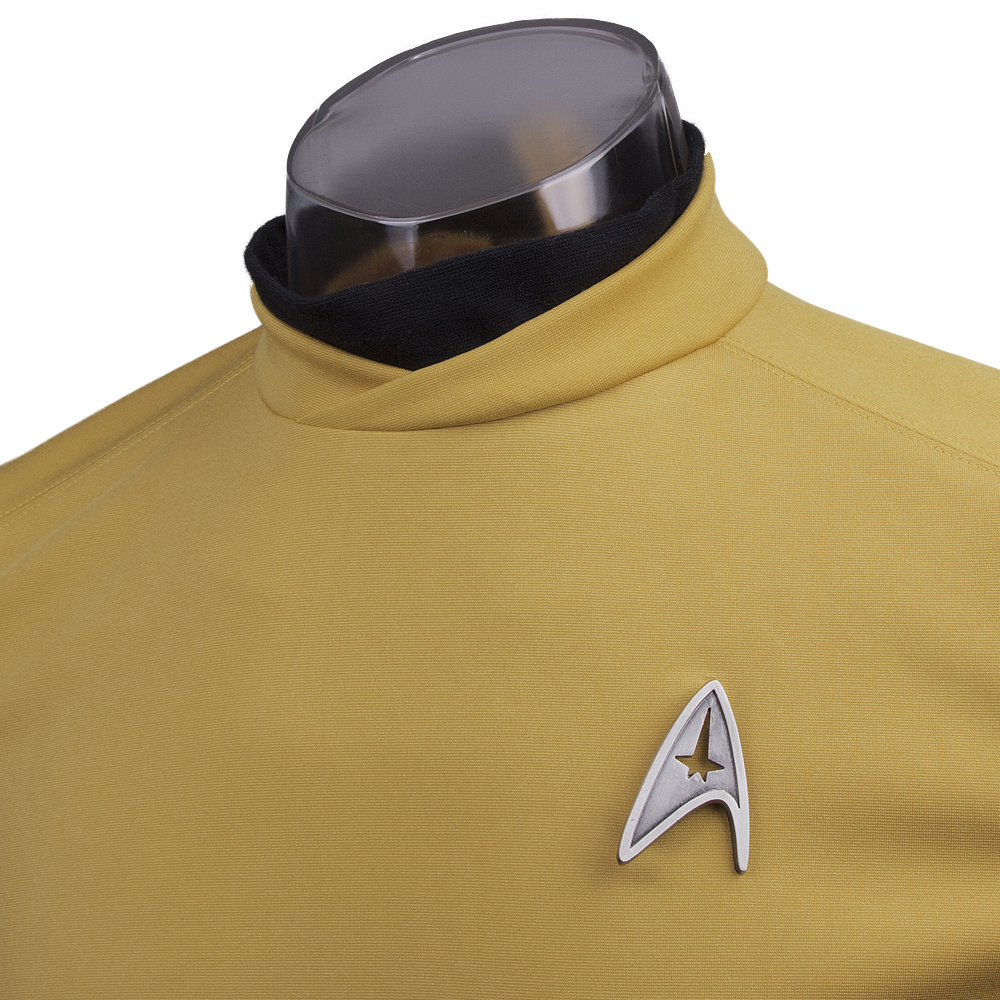 Star Trek Beyond Costume Cosplay Star Trek Yellow Captain Kirk Uniform Spock Uniform Scotty Halloween party Prop (5)