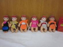 Collection Cute Vintage Rubber Antique Doll Pocket Cowboy Doll Toy Children Birthday Gift