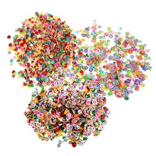 Professional 1000PCS/lot Fimo Clay 3 Series Fruit Flowers Animals DIY 3D Nail Art Decorations Nails Art Sticker Design(China)