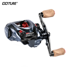 Goture Amazing 10KG/22LBS Drag Power Saltwater Big Game 10+1BB 6.3:1 Metal Body Carbon Drag Magnetic Baitcasting Fishing Reel