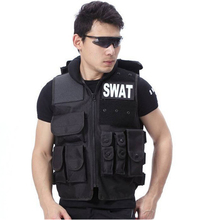 Buy Men Black Tactical SWAT Vest Military Body Armor Sports Wear Hunting Hiking Outdoor Vest Army Swat Molle Vest for $28.00 in AliExpress store