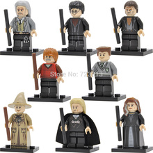 Single Sale Harry Potter Figure Argus Filch Narcissa Lucius Malfoy Ron Weasley Professor Sprout Building Blocks Brick toys Set(China)