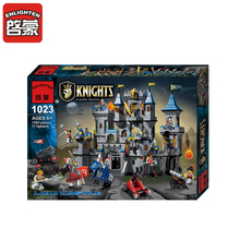 ENLIGHTEN 1393PCS Medieval Castle Series Building Blocks Large Lion Knight Model Children Education Bricks Toys For Boys Gifts(China)