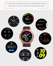 New MTK2503 Bluetooth GPS Smart Watch With Camera Sim Card Heart Rate Altitude Full Round Clock For iOS Android Phone VS KW18 G3
