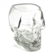 Home Bar New Crystal Skull Head Drinking Ware Vodka Whiskey Shot Glass Cup  Transparent