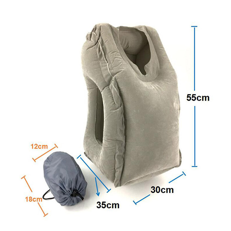 2017 hot sale Multi-function Inflatable Woollip travel outdoor pillow Inflatable Travel on Airplane outdoor Pillow Cushion mat  (4)