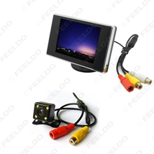 "Digital 3.5"" TFT LCD Reverse Monitor + Night Vision 4LED Reversing Camera Car Rear View System #FD-3561"
