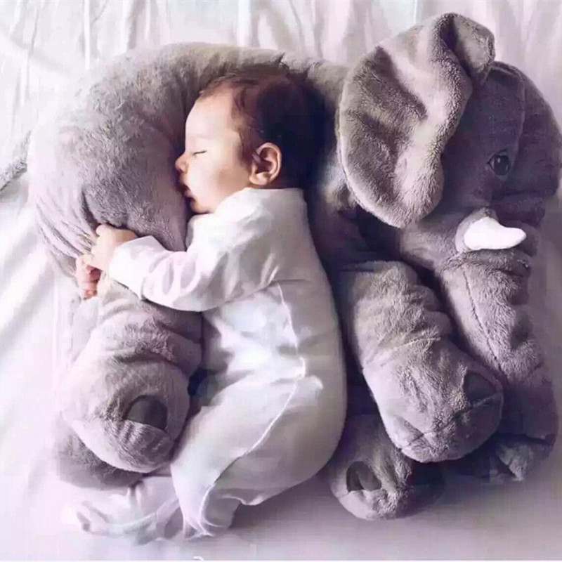 Hot sale! 60cm New Animal Elephant Plush Toys With PP Cotton Stuffed Soft Sleeping Back Cushion Elephant Doll for Kids Gifts<br><br>Aliexpress