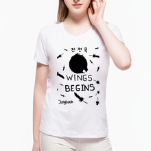 New Trend KPOP BTS Bangtan Boys BEGINS The Beatles Women T Shirt  Music Band Short Sleeve Hip Hop Punk Tops T-shirt  L7-68