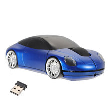 2017 New Wireless Car Optical Mouse mini Car Shape Wireless Mouse Cool Fashion Mice For PC Laptop + USB receiver Hot