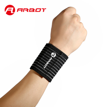 Arbot High Elastic Bandage Wrist Support Adjustable Tennis Badminton Sports Wristband Breathable Hand Strap Wraps carpal tunnel(China)