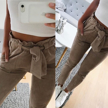 Buy new 2018 fashion winter women suede pants style ladies Leather bottoms female trouser Casual pencil pants high waist trousers for $8.57 in AliExpress store
