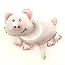 QGQYGAVJ MINI Foil Balloons Helium Inflate Animal Piggy Balloon Kid's Birthday Gift Party Supplies Toy.(China)