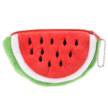 Cute Fruits pattern Plush bag Children Small New design Cartoon watermelon Type Bag Plush Toys for Girls