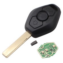 3 Button Diamond Remote Key For BMW E38 E39 E46 EWS System 433MHZ/315MHZ With PCF7935AS Chip HU92 Blade Excellent Quality