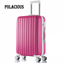 "26 inch New surface like sandpaper stripes trolley suitcase/ 20"" boarding luggage/10Colors universal wheels trolley candy"